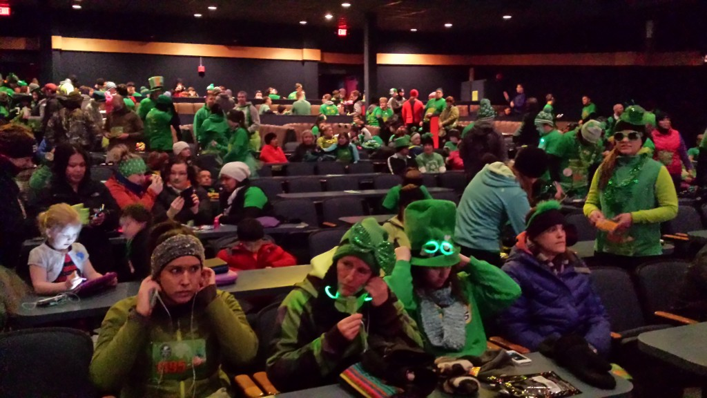 Pre-Shamrock Shuffle inside the Bear Tooth Theater Pub